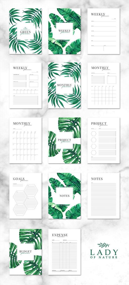 WIeczny Green Planner do samodzielnego wydruku 7